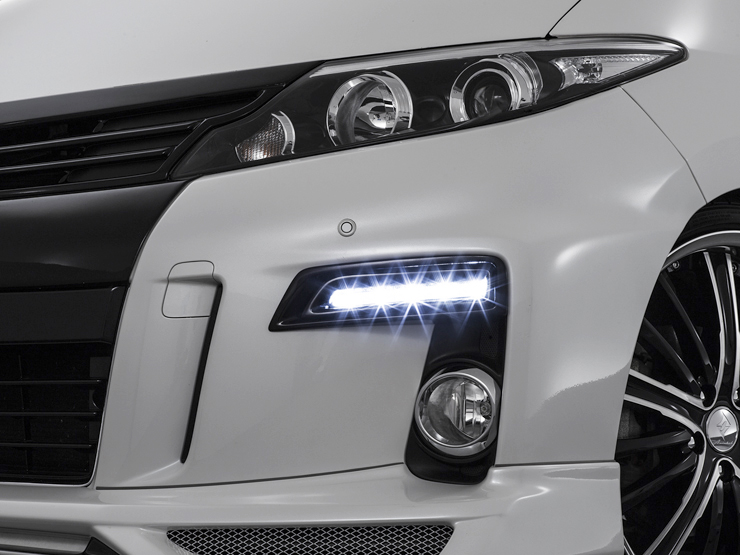 50エスティマ 後期 CRYSTAL HYPER 2WAY LED DAYLIGHT KIT