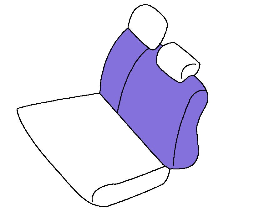 リヤ背面 2人掛け用(2・3列目)補修パーツ
