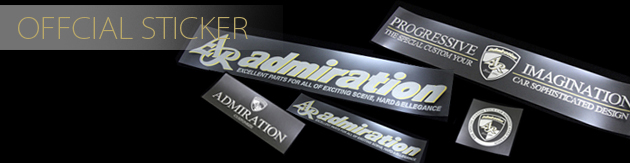 アドミレイション オフィシャル オリジナル ステッカー ヴェルファイア